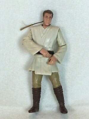 Star Wars Episode 1 Phantom Action Figure OBI-WAN KENOBI Jedi Duel 1999 Hair