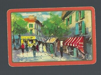 Vintage Swap Playing Card   View from Paris