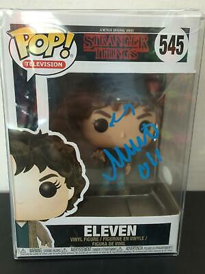 Funko Pop Eleven Stranger Things 545 Millie Bobby Brown Auto Jsa Witnessed #9936
