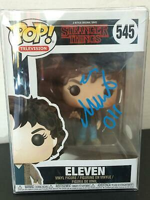 Funko Pop Eleven Stranger Things 545 Millie Bobby Brown Auto Jsa Witnessed #9934
