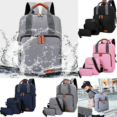3×USB Charging Anti-Theft Mens Womens Backpack Laptop Notebook Travel SchoolBag