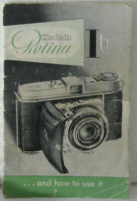 original Instruction Manual for the Kodak Retina Ib, 26 pages, I b
