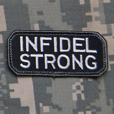 MilSpec INFIDEL STRONG Swat USA Tactical Military Combat Army Morale Patch