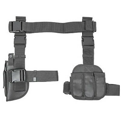 NcSTAR 3 Piece Drop Leg Hunting Tactical Thigh Rig Holster w/ Mag Pouches Gray