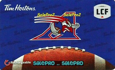 Tim Horton Coffee #Fd57202 Canadian Football Cfl Allouttes Collectible Gift Card