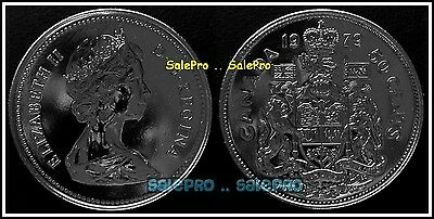 Canada 1979 Canadian Jubilee Half Dollar Queen Proof Like 50 Cent Pl Coin Unc