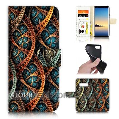 ( For Samsung S10 5G ) Wallet Flip Case Cover AJ40695 Abstract Pattern