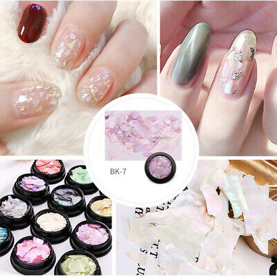 Natural Pearl Shell Nail Art Sequin Slices Crushed Manicure DIY Decor for Women