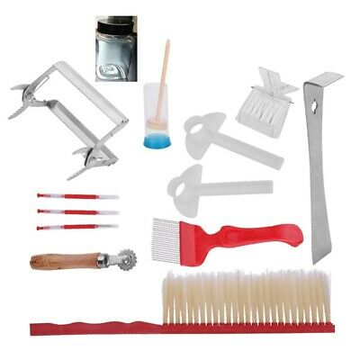 Beekeeping Tool Kit Bee Brush Uncapping Fork Queen Catcher Spur Wire Embedd M3C8
