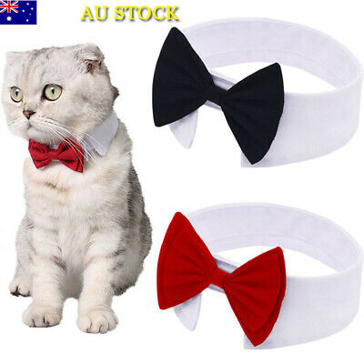 Dog Cat Pet Bow Tie Bowknot Necktie Puppy Kitten Dickie Necklace Collar Clothes