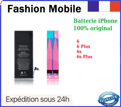 Batterie iPhone 6/6S/6+/6S Plus Interne Neuve avec Autocollant Stick Original