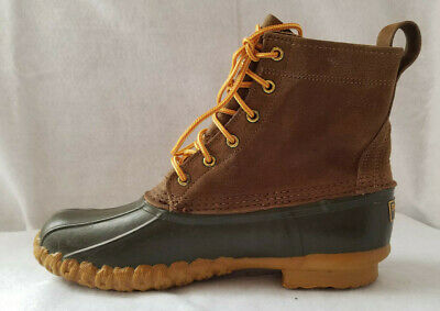 19fd3bfd57a34 LL Bean Duck Hunting Boots Mens Size 10 Brown Leather Rubber Genuine  Classic USA