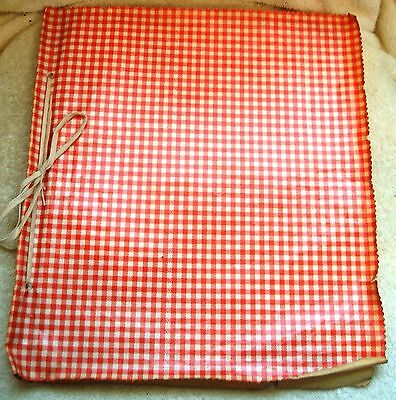 Vintage 1950s Oil Cloth and Cotton Hand Made Make A Wish Scrapbook