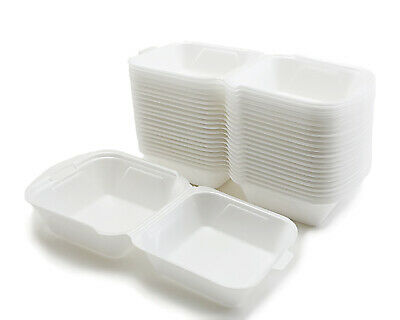 Hamburger box 125pcs - 1000pcs white big trays snack box menu box packaging