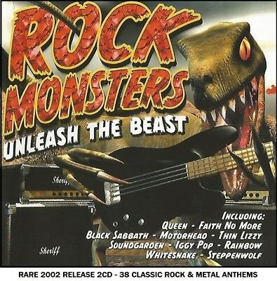 Best Greatest Rock Metal Hits 2CD Judas Priest Skid Row Scorpions Queen Gun Rush
