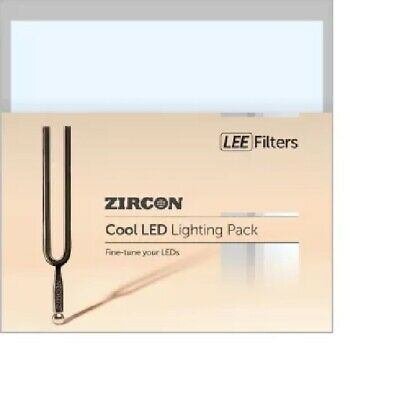 Lee Filters ZIRCON LED Filter Pack 9 cuts colour COOL LED stage lighting gel