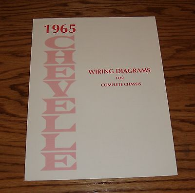 1965 Chevrolet Chevelle Wiring Diagram Manual for Complete Chassis 65 Chevy