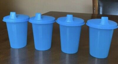 Tupperware Blue Bell Tumblers With Sipper Seal Domed Set !!!!