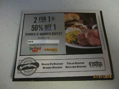 Vegas Dinner Buffet Coupon - Aug 2019 - Santa Fe Sunset Texas Boulder + More