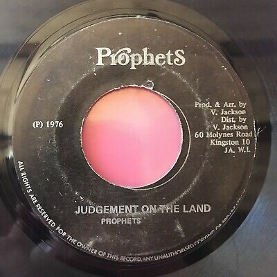 "Prophets - Judgement On The Land 7"" Roots Reggae 45 1976 Jamaica Bob Marley Tosh"