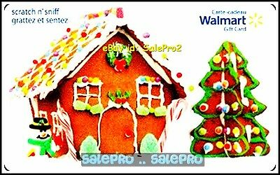 Walmart Christmas Gingerbread House & Tree Fd29411 Scented Collectible Gift Card