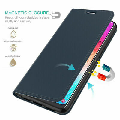 For Samsung Galaxy A70 A50 A40 PU Leather Magnetic Flip Wallet Case Cover Stand