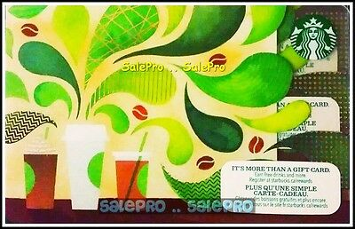 Starbucks 2015 Canada Coffee Aroma Treat It Like Cash New Collectible Gift Card