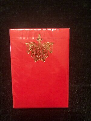 Knights Red Playing Cards (marked) sealed new