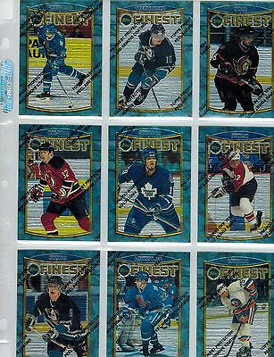 1994/1995 94/95 Topps Finest Hockey Complete 165 Card  Set 18/19 Sale