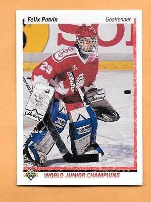 Hockey Cards-90/91 Upper Deck #458 Felix Potvin Rookie Card
