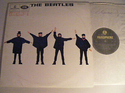 THE BEATLES Help Ex Parlophone 1965 UK Original Yellow & Black LP