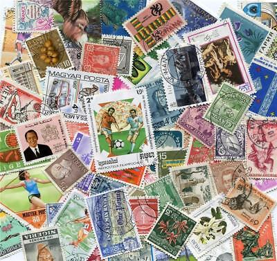 1000 Different All World Mixed Selection of Commemorative Stamps All Off Paper