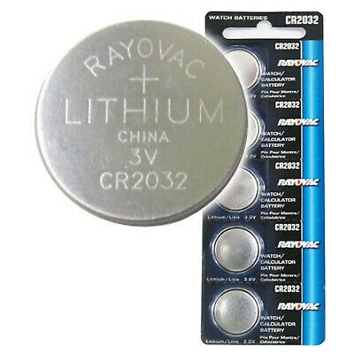 5pk Rayovac CR2032 3V Lithium Coin Cell Battery Replaces RV2032 FAST USA SHIP