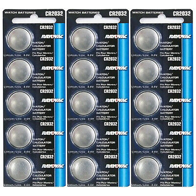 15pk Rayovac CR2032 3V Lithium Coin Cell Battery Replaces RV2032 FAST USA SHIP