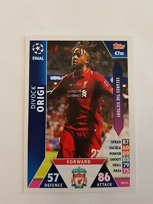 DIVOCK ORIGI Match Attax On Demand Champions League Final Card 2018/19 Liverpool