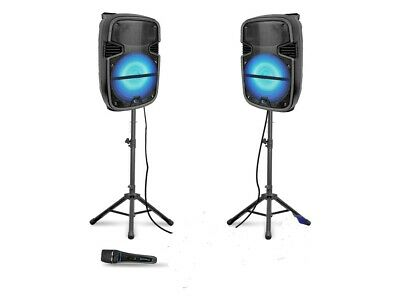 Technical Pro Soundblast-8BT 2000W System with DJ Speakers and Microphone