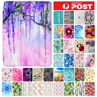 Flower Front&Back Smart Case Cover for iPad 2 3 4 5 6 Mini Air Pro 9.7 10.5 F002