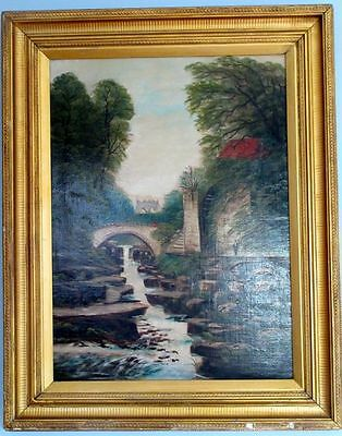 Walter Field (1837-1901) Authentic Antique British Large Oil Painting, Signed