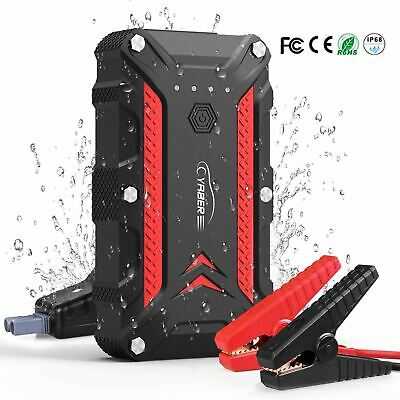YABER Car Battery Jump Starter (Up to 7.5L Gas or 6.0L Diesel) 1200A 15000mAh 12