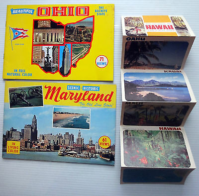 Lot of 3 SOUVENIR TRAVEL GUIDES 1950's Maryland Ohio Hawaii
