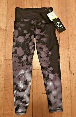 Girls Champion Mid-Rise Stretch Leggings Multi Color Black/Gray Size XS 4/5