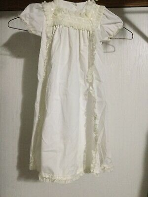 Vintage Alexis Gown White Lace Embroidered 6 Months Long Overlay