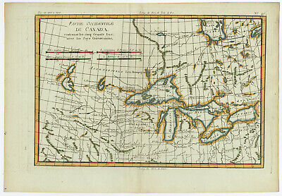 Antique Print-CANADA-GREAT LAKES-NORTH AMERICA-MISSISSIPPI-Bonne-c. 1780