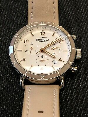 ba64dc75f Shinola Canfield Sport Chrono 40mm Women's Watch With Leather Strap.