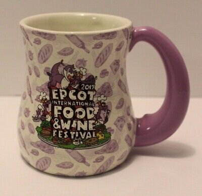 Disney Parks 2017 Epcot Food And Wine Festival FIGMENT Coffee Mug  EUC