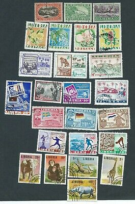 Liberia Postage stamps early collection series.Used