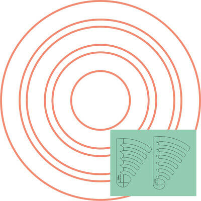 """Westalee Design Circles on Quilts Template Set 1 (2"""" -12"""")"""