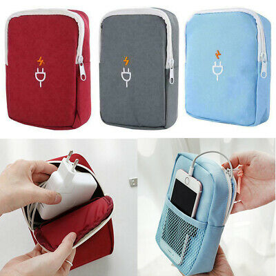 Travel Cable Cord Organizer Electronics Accessories Bag USB Drive Case Pouch