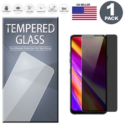 (1-Pack) Privacy Tempered Glass Film Screen Protector Anti Spy For LG G7