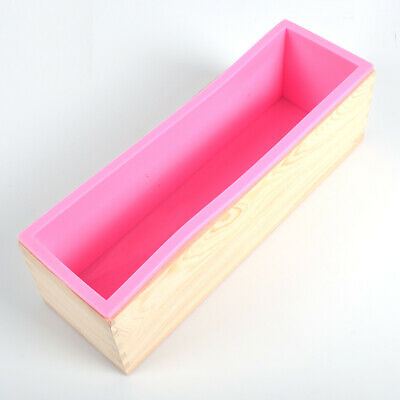 RECTANGLE SILICONE SOAP Mold Wooden Box DIY Tools Toast Loaf